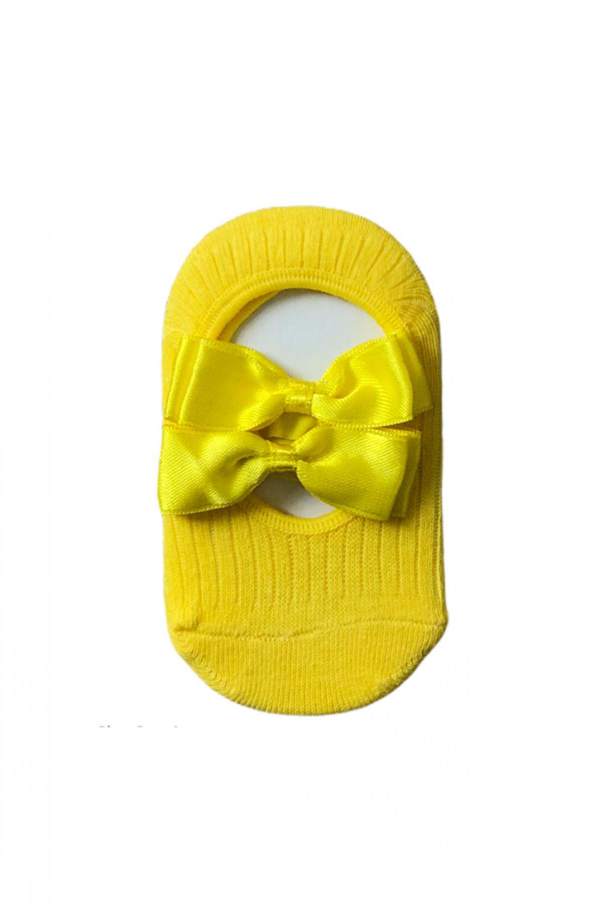 Sarı Kız Çocuk Babet Çorap