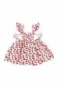Melek Kanat Karpuz Desenli Kız Çocuk Elbise