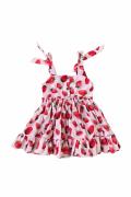 Candy Kırmızı Çilek Kız Çocuk Elbise