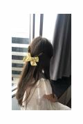 Mini Klipsli Papatya Desenli Sarı Kurdele