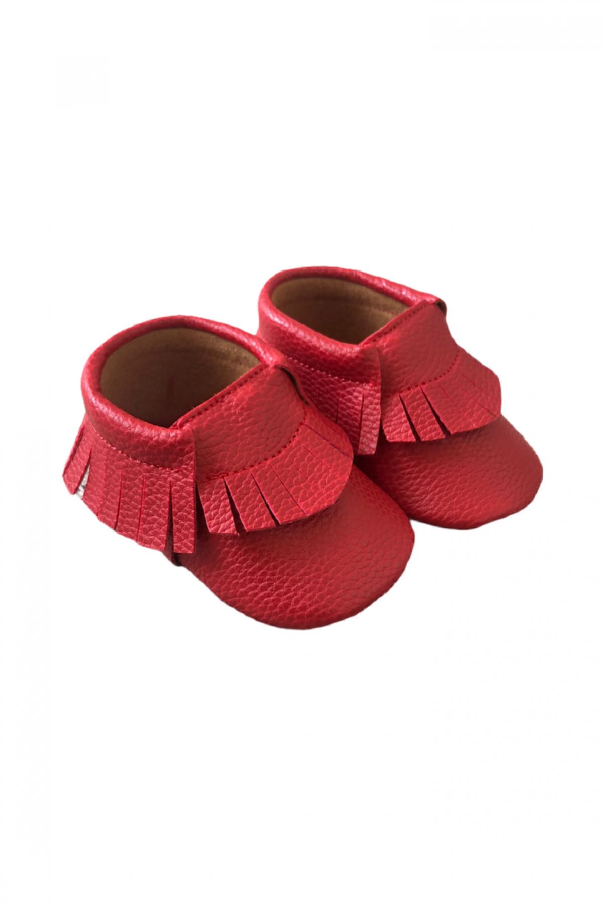 Kırmızı Bebek Makosen Ayakkabı