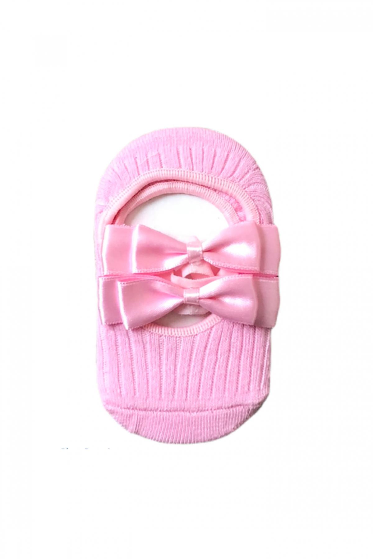 Pembe Kız Çocuk Babet Çorap