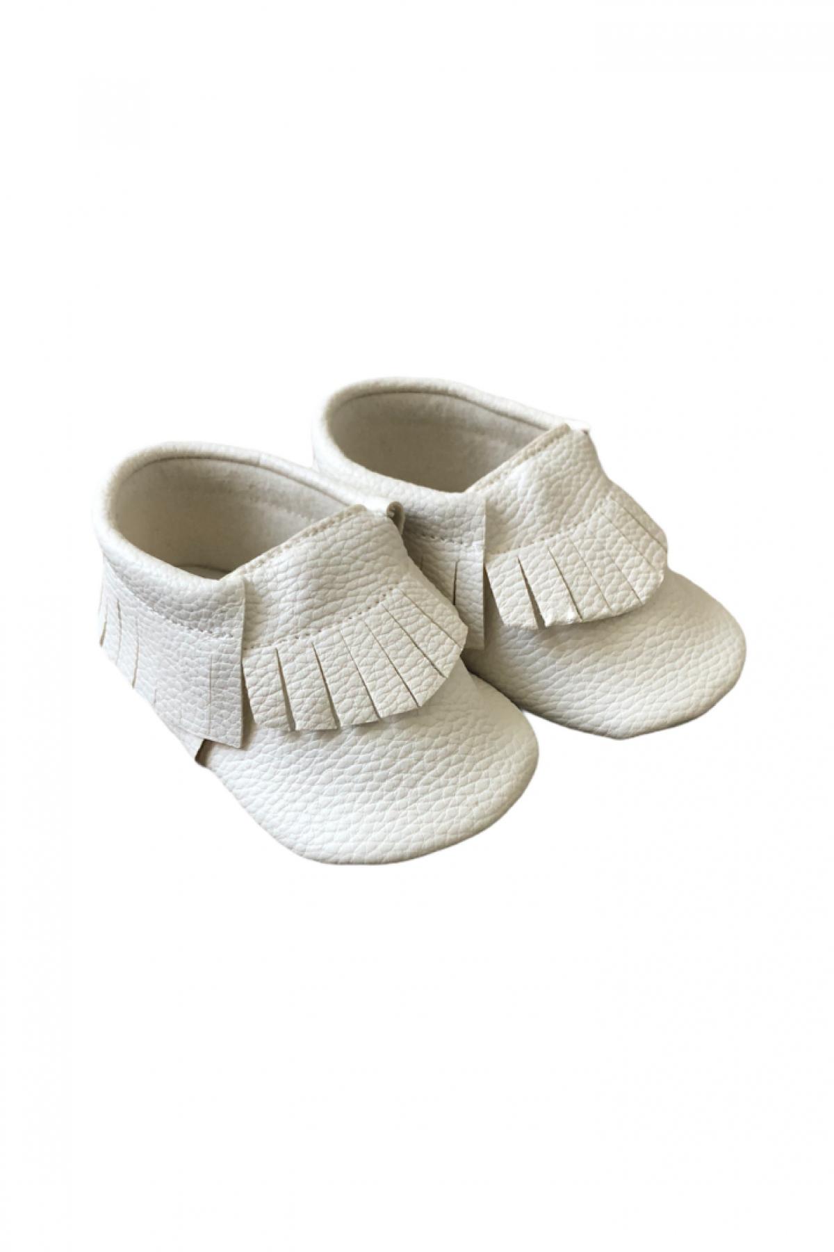 Beyaz Bebek Makosen Ayakkabı