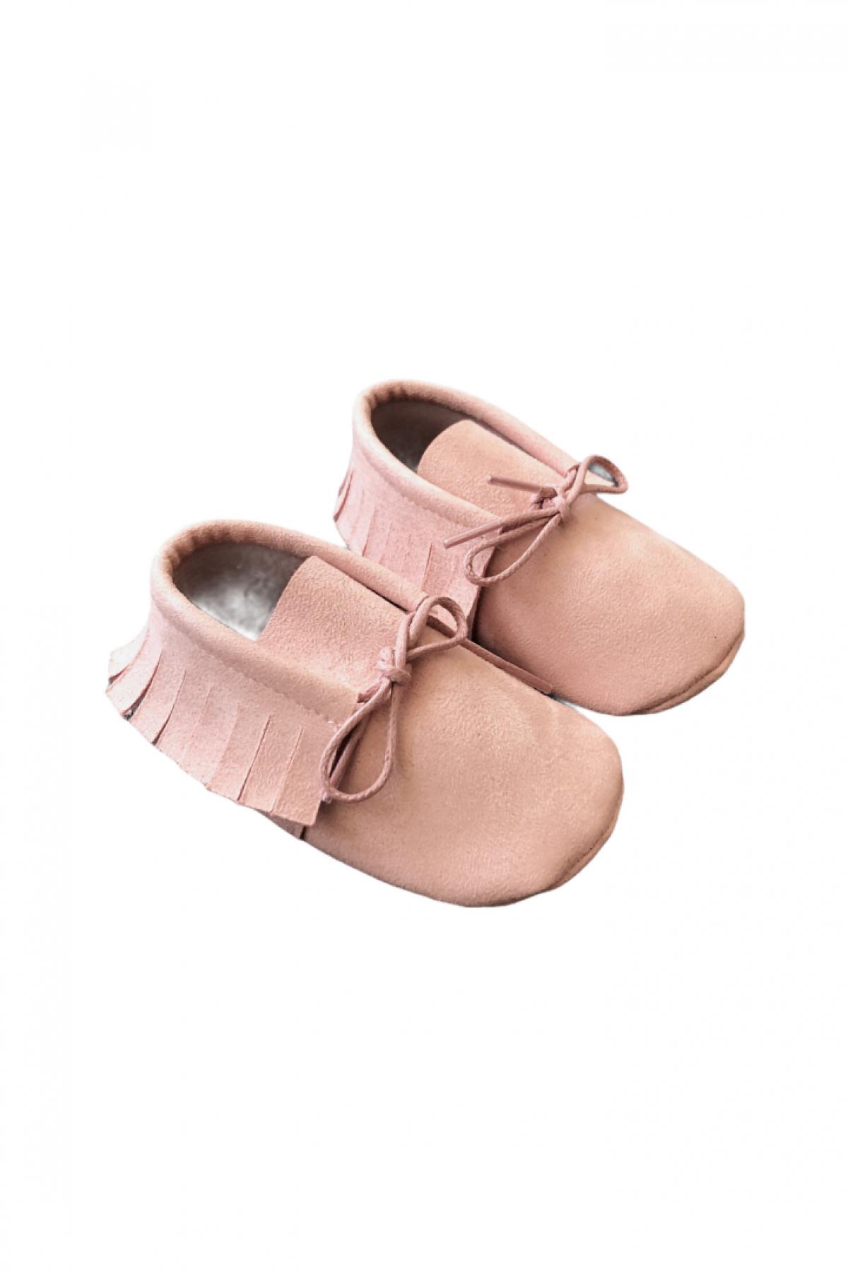 Soft Pudra Bebek Makosen Ayakkabı