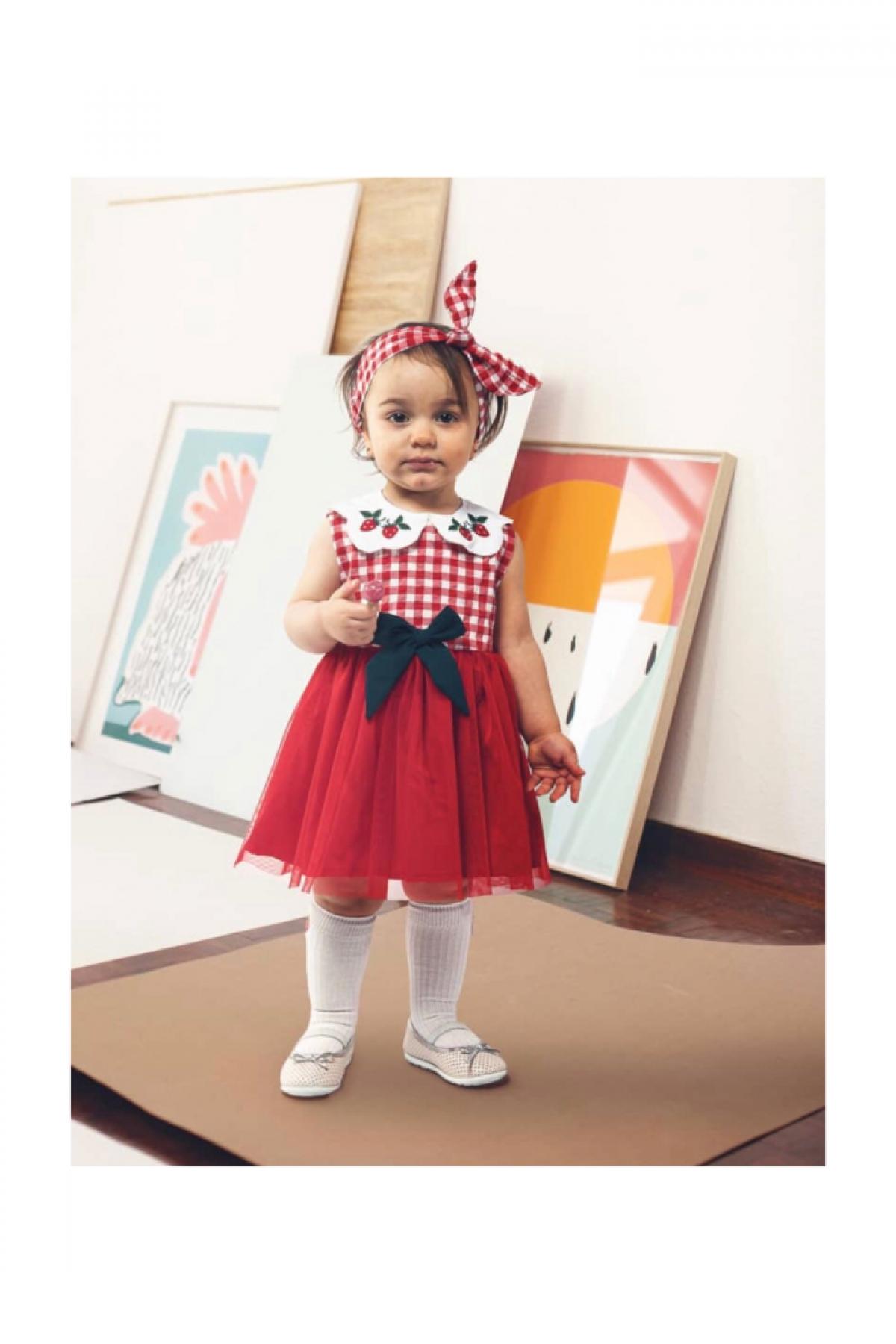 Olivia Kırmızı Kız Çocuk Elbise