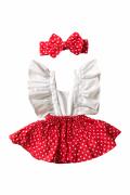 Kırmızı Puanlı Slopet Kız Çocuk Takım