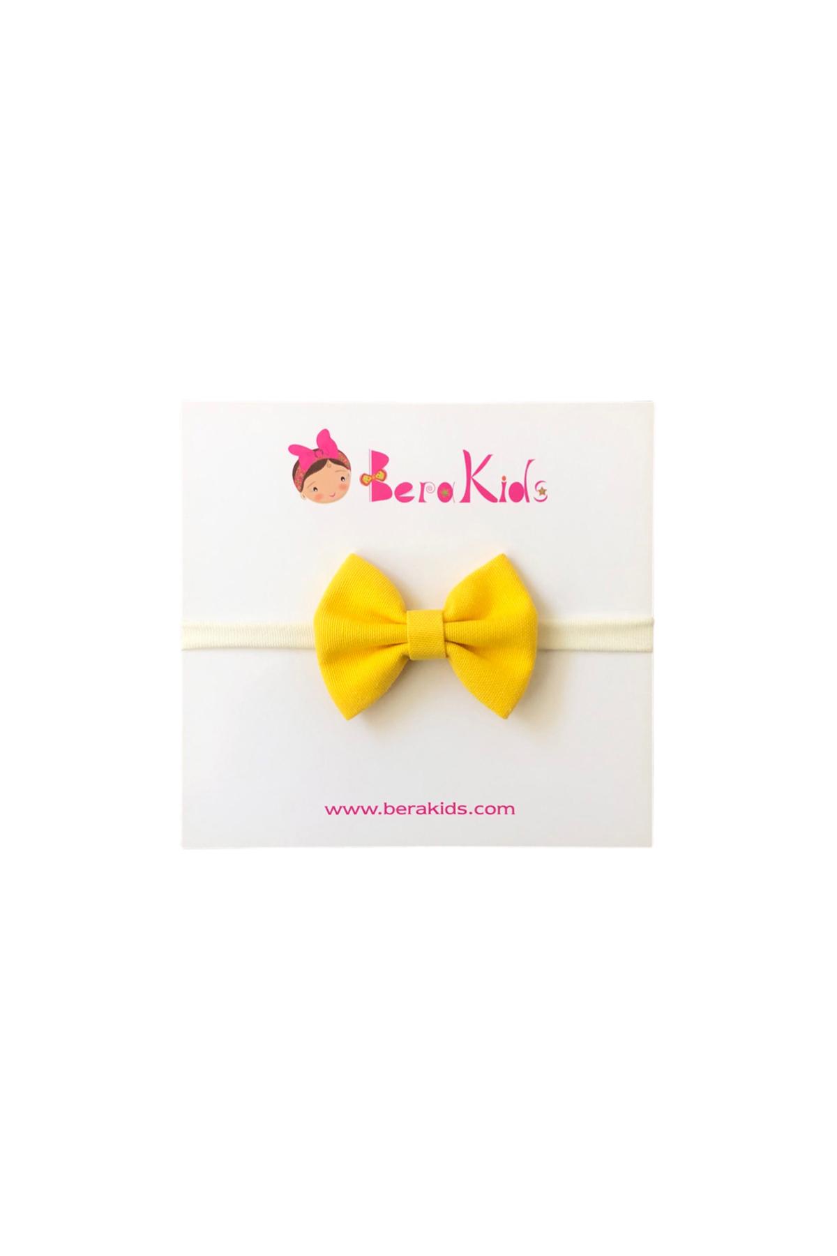 Mini Fiyonk Sarı Çocuk Saç Bandı
