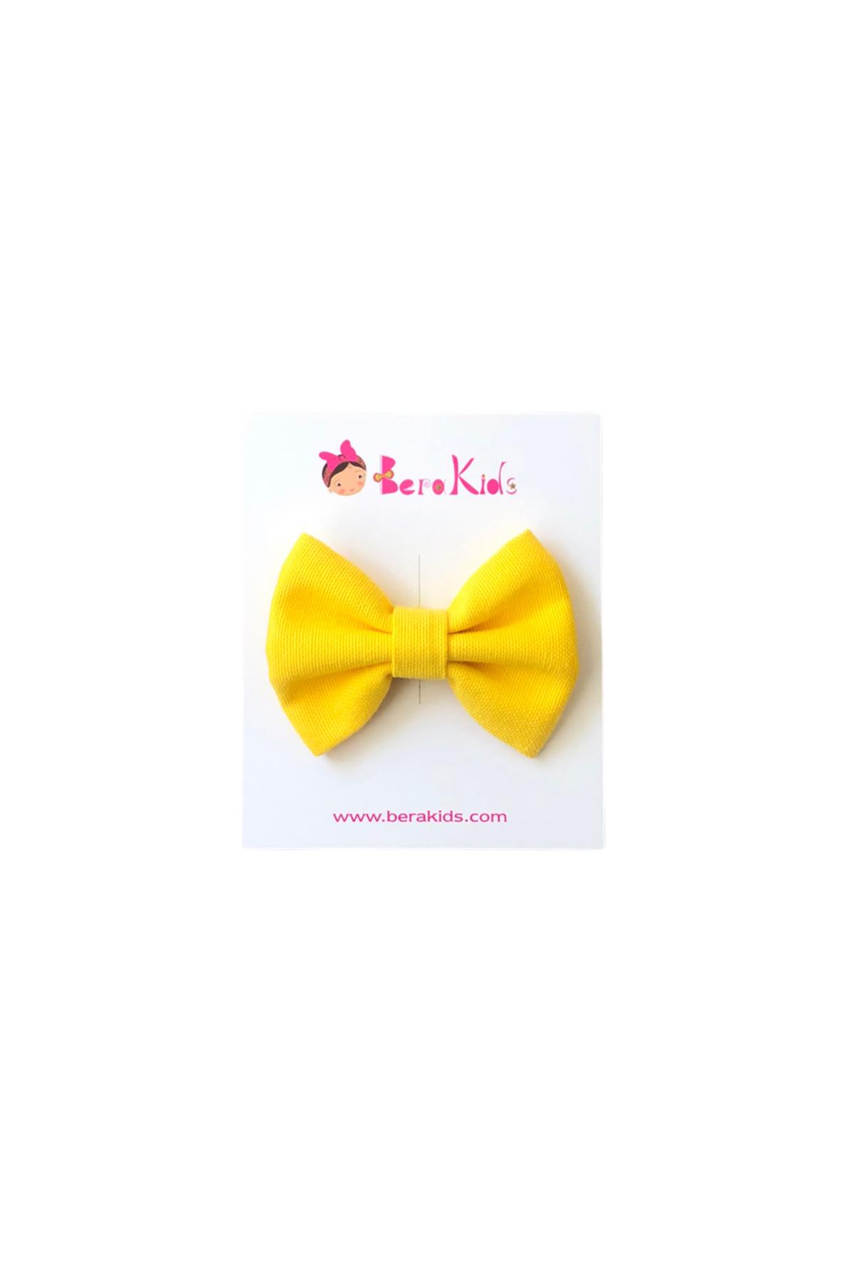 Mini Fiyonk Sarı Çocuk Klips Toka